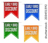 Early Bird Discount Ribbons Se...