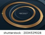 abstract dark blue and gold... | Shutterstock .eps vector #2034529028