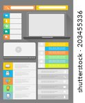 flat user interface kit | Shutterstock .eps vector #203455336