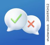 survey reaction icon. check and ... | Shutterstock .eps vector #2034592412