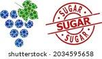 grape bunch star mosaic and... | Shutterstock .eps vector #2034595658