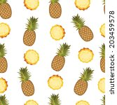 pineapple seamless vector... | Shutterstock .eps vector #203459578
