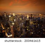 ariel view of the new york city ...