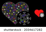 glowing network heart infection ...   Shutterstock .eps vector #2034617282