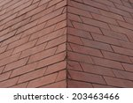 brown brick wall for a... | Shutterstock . vector #203463466