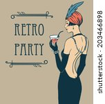 Flapper Girl  Retro Party...