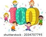 illustration of stickman kids... | Shutterstock .eps vector #2034707795