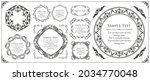 elegant design element set....   Shutterstock .eps vector #2034770048