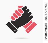 handshake icon. vector... | Shutterstock .eps vector #2034774758
