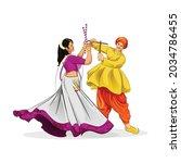 illustration of goddess durga...   Shutterstock .eps vector #2034786455