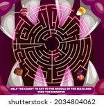 children find way maze with...   Shutterstock .eps vector #2034804062