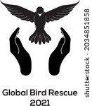 global bird rescue 2021 black...   Shutterstock .eps vector #2034851858
