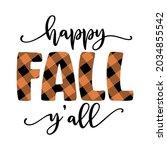 Happy Fall Y'all   Hand Drawn...