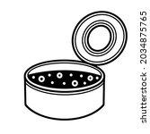 open tin can vector icon. hand...   Shutterstock .eps vector #2034875765