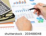closeup image of business woman ... | Shutterstock . vector #203488048
