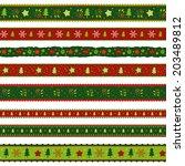 christmas ribbons set | Shutterstock .eps vector #203489812