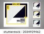 new set of editable minimal... | Shutterstock .eps vector #2034929462