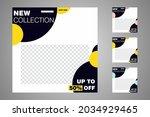 new set of editable minimal... | Shutterstock .eps vector #2034929465
