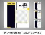new set of editable minimal... | Shutterstock .eps vector #2034929468