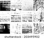 grunge textures set. background.... | Shutterstock .eps vector #203495902