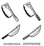 knives cartoon vector doodle...   Shutterstock .eps vector #2034960968