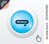 webinar hand pointer sign icon. ...