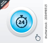 24 hours timer sign icon....