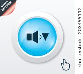 speaker low volume sign icon....