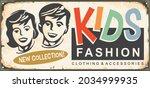 kids fashion retro boutique... | Shutterstock .eps vector #2034999935