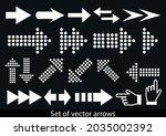 arrows set. vector illustration....   Shutterstock .eps vector #2035002392