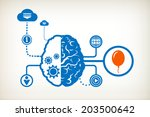 balloon and abstract human... | Shutterstock .eps vector #203500642