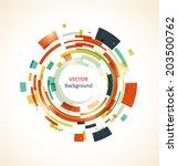 abstract vector retro circles... | Shutterstock .eps vector #203500762