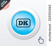 denmark language sign icon. dk...