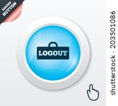 logout sign icon. sign out...