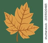 simplicity maple leaf freehand... | Shutterstock .eps vector #2035020485