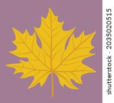 simplicity maple leaf freehand... | Shutterstock .eps vector #2035020515