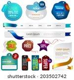 blue modern stylish business... | Shutterstock .eps vector #203502742