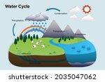 vector diagram of the water... | Shutterstock .eps vector #2035047062
