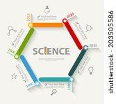 science infographics | Shutterstock .eps vector #203505586