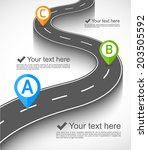 road infographic | Shutterstock .eps vector #203505592