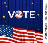 usa election company poster....   Shutterstock .eps vector #2035056068