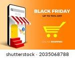 online shopping black friday... | Shutterstock .eps vector #2035068788