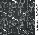 seamless pattern with sketched... | Shutterstock .eps vector #203508862