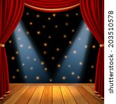 empty theatrical scene stage... | Shutterstock .eps vector #203510578