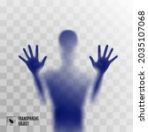 shadow blur of horror blue man...   Shutterstock .eps vector #2035107068