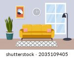 modern living room interior....   Shutterstock .eps vector #2035109405