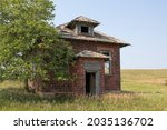 Abandoned Prairie School In...