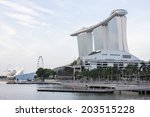singapore   june 19  marina bay ... | Shutterstock . vector #203515228