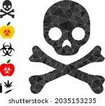 triangle death skull polygonal... | Shutterstock .eps vector #2035153235