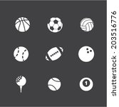 sport icon set | Shutterstock .eps vector #203516776